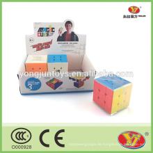 Heißer Verkauf stickerless magischer quadratischer Würfel andere pädagogische Spielwarenart magische Würfel