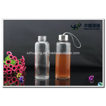 400ml Empty Glass Water Bottle with Stainless Cap