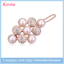 alibaba china supplier acrylic resin hair accessories zhejiang yiwu bridal crystal hair clips
