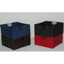 (BC-RB1021) High Quality Pure Manual Paper Rope Basket
