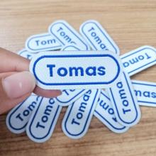 Fer personnalisé sur les patchs de broderie étiquette tissu scolaire