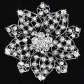 Fashion Flower Metal Alloy Rhinestone Women Wedding Crystal Brooches wholesale bridal jewelry