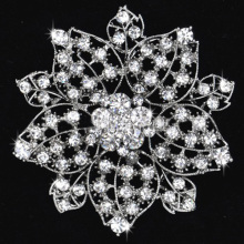 Fashion Flower Metal Alloy Rhinestone Women Wedding Crystal Brooches wholesale bridal jewelry