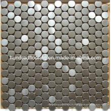 Mosaïque métallique en acier inoxydable ronde en argent (SM235)