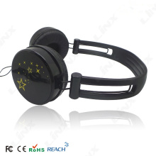 color changeable wired over ear head earphone