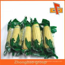 Bolsa de plástico transparente de nylon de vacío de sello de calor para envases de maíz con excelente impresión