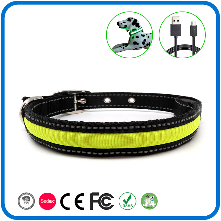Led lampeggiante in Dark Glow Dog Collar