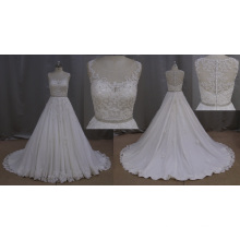 A-Line Bridal Dress Lace Beading Beading Sash
