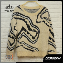 Women Abstrast Pattern Warm Sweater