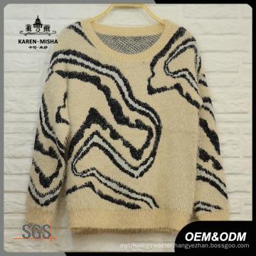 Women Abstrast Pattern Warm Sweater