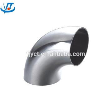 Cotovelo de aço inoxidável SS304 Curvatura de aço de cotovelo de 90 graus / 45 graus