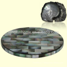 Черная морская раковина циновки круглая чашка мат Черная чашка коврик фантазии чашки коврики