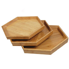 Hexagonal bamboo tray bamboo fruit plate