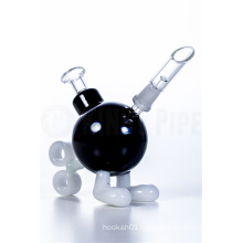 Mini Black Ticking Bomb Dabbing Oil Rig Glass Water Pipes (ES-GB-375)