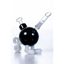 Мини-черная тикающая бомба Dabbing Oil Rig стеклянные водопроводные трубы (ES-GB-375)