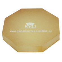 Luxury Confection Gift Box, Octagonal Structure, Made of Gold Cardboard with Inlay