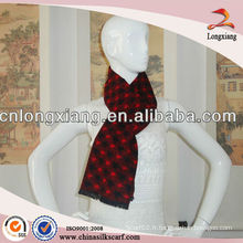 Écharpe jacquard tissée à bas prix en polyester