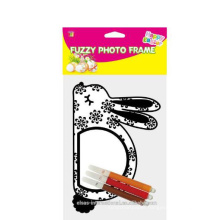 DIY creative photo funny frames, easter fuzzy bunny