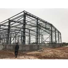 Préfabriqué bon marché construit avec la structure en acier préfabriquée par tuyau en acier de structure maison de structure en acier de volaille