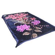 Centra Flower Print Thick Polyester Blanket Can Be Used as Swaddle Blanket