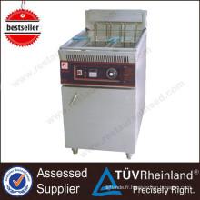 La sécurité de friteuse électrique de sécurité d'équipement de cuisine de restaurant et la machine de friteuse de pommes de terre d'huile-eau de pollution