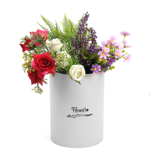 Luxury paper flower gift round flower box