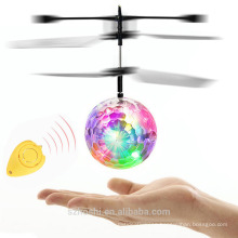 Christmas toy LED Flash Flying Ball Helicopter With Sensor Colorful Flash Disco ball Remote Control Toy As Gift