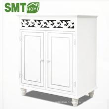 """Деревянный шкаф """"Джерси"""" с распашной дверью белый шкаф для хранения Cao Xian"""