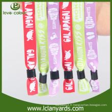 Fret personnalisé en gros tissu imprimé bracelet en tissu pour VIP