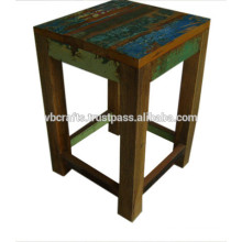 recyled wood stool
