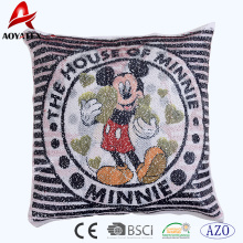 2018 hot cartoon pattern sequins home decorative cushion,home use sofa cushion