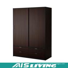 Armário feito-à-medida do vestuário do quarto das portas deslizantes da madeira compensada (AIS-W259)