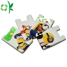 Cartoon Minions Printed Silicone 3M Cell Phone Wallet