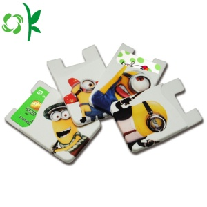 Cartoon Minions Printed Silicone 3M Phone Phone Wallet