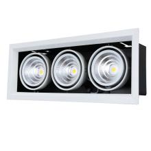A espiga principal da lâmpada do alumínio três conduziu a grade Downlight