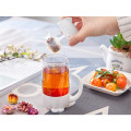 Fashion Style Glass Cup with Infuser and Lid