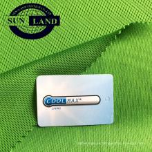 Tejido 100% coolpass que absorbe en seco para ropa deportiva
