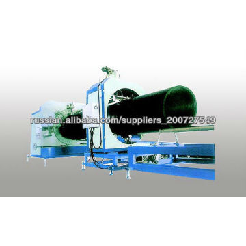 steel reinforced HDPE culvert pipe making machine