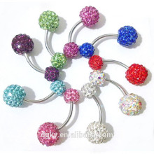 Surgical Steel Fake Piercing Navel Diamond Belly Button Ring