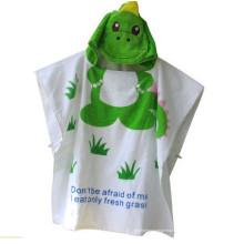 Cute verde crocodilo desenhos roupão de banho de algodão menina roupão de banho