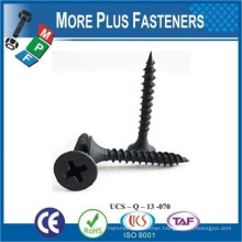 Made in Taiwan Bugle Head Fine Thread Coarse Thread Phillips Drive Size High Low Thread Gray Phosphate Drywall Screw