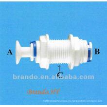 Bulkhead adaptador con todos los tamaños para el montaje de tubería en la industria del tratamiento de agua
