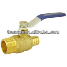Lead free brass ball valve PEX*MIP Full port