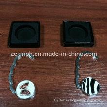 Forma redonda personalizada impresión Logo Metal bolsa percha para regalos promocionales