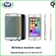 Tansparent für iPhone Fall Qi drahtloser Aufladeeinheitsempfänger-Kasten für iPhone5 und 5s
