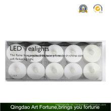 10pk batería operado LED parpadeante Tealight velas para el hotel