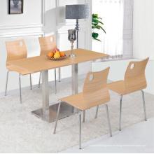 Juego de mesa de comedor de cuatro personas Juego de mesa de comedor