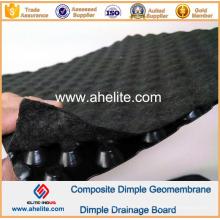 Géomembrane de Dimple de HDPE pour le chemin de fer