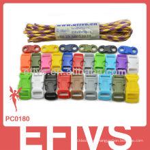 2015 Nuevo Paracord baratos Kits de pulsera de supervivencia para la decoración capming senderismo