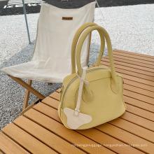 2021 Fashion Blue Lychee Pattern Handbag for Ladies
